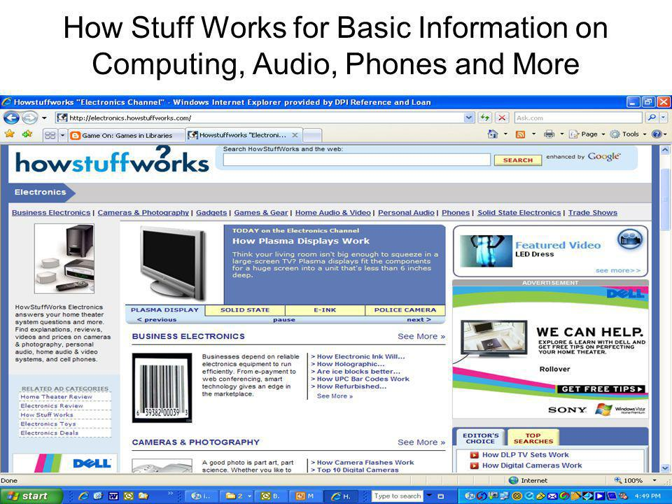 How Stuff Works for Basic Information on Computing, Audio, Phones and More