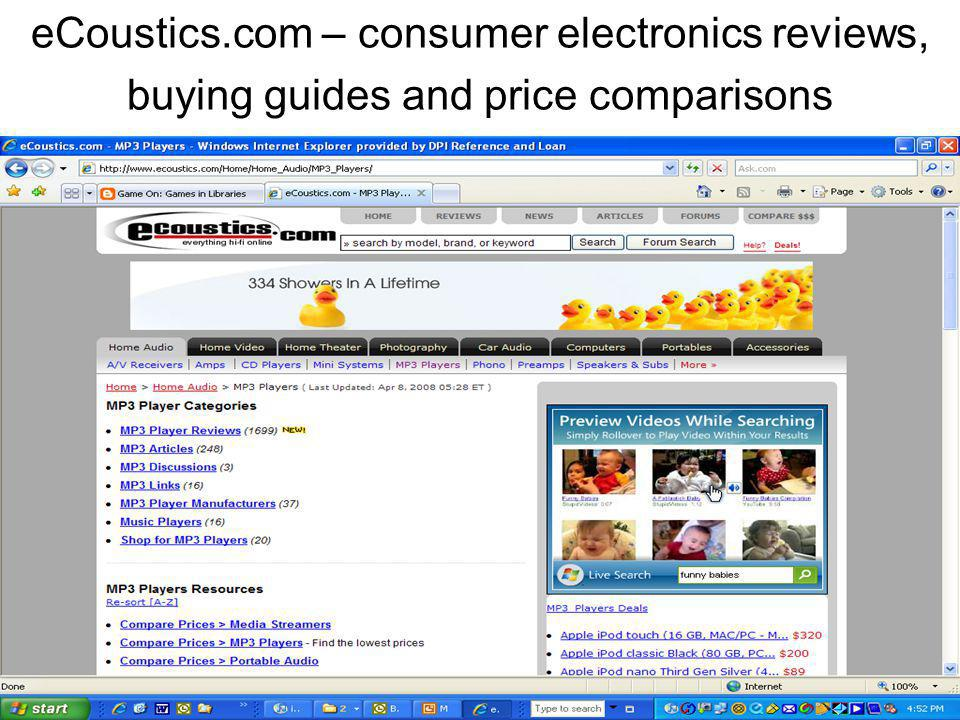 eCoustics.com – consumer electronics reviews, buying guides and price comparisons