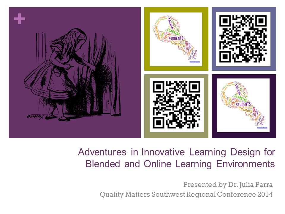 + Adventures in Innovative Learning Design for Blended and Online Learning Environments Presented by Dr.