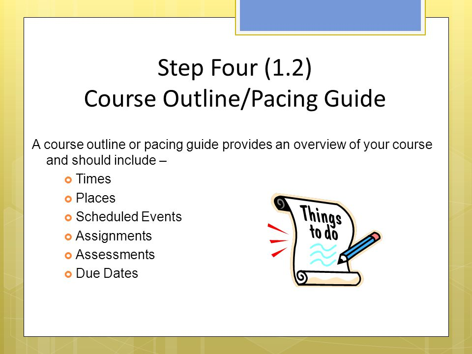 Step Five (1.3) Netiquette An etiquette or Netiquette statement provides- o Expectations for communication o Examples of netiquette considerations: o Expectations for the tone and civility used in communication o Expectations for email content o Speaking style requirements (abbreviations, emoticons, etc) o Spelling and grammar expectations o Discussion board participation