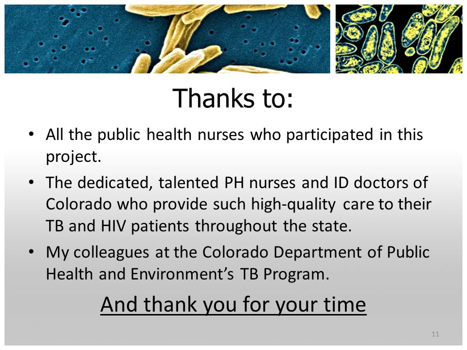 Thanks to: All the public health nurses who participated in this project.