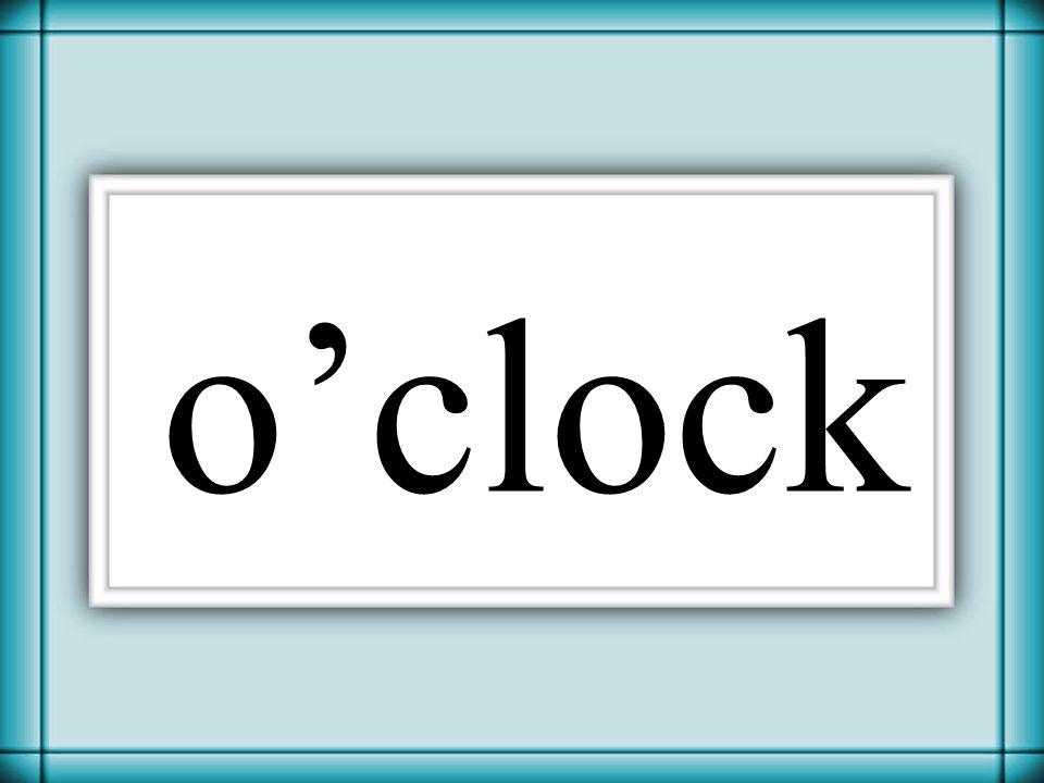 Thornton 2006 o'clock