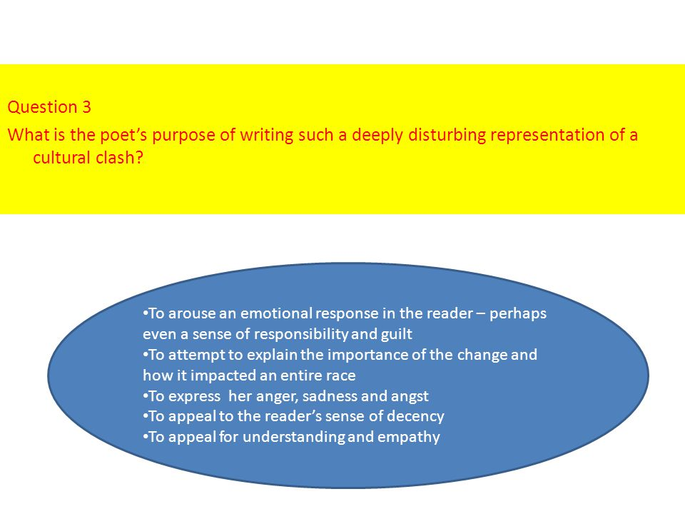 Question 5 What is the denotative meaning of the poem.
