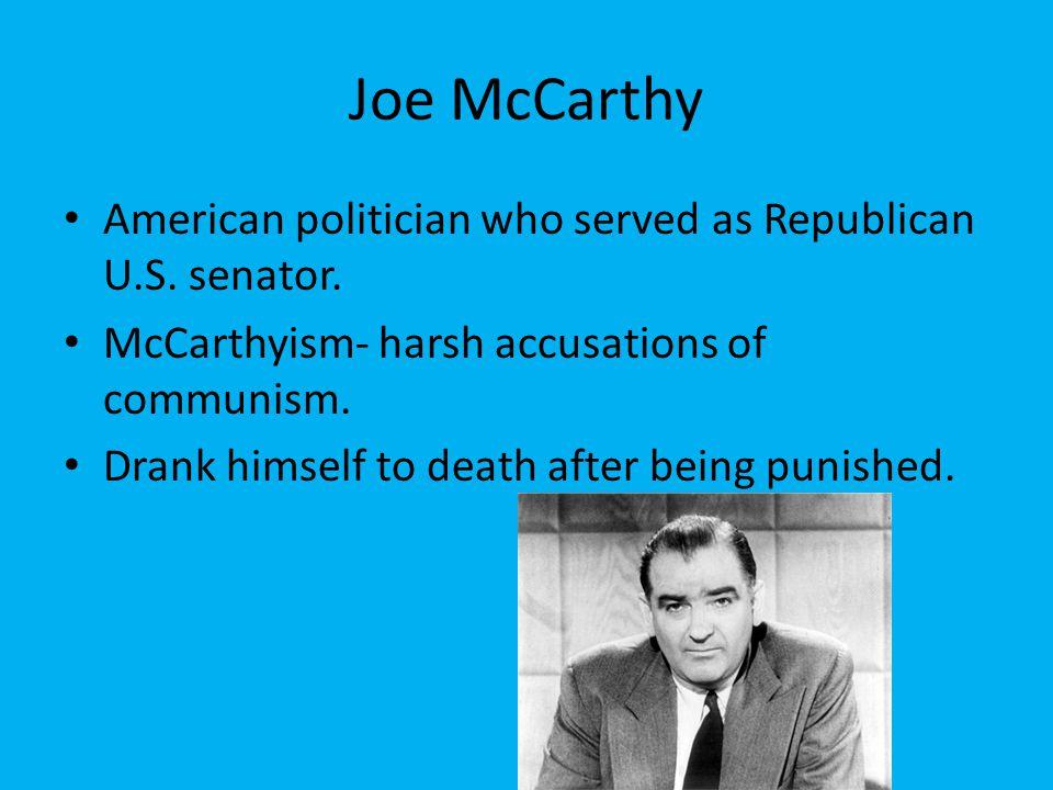 Joe McCarthy American politician who served as Republican U.S.