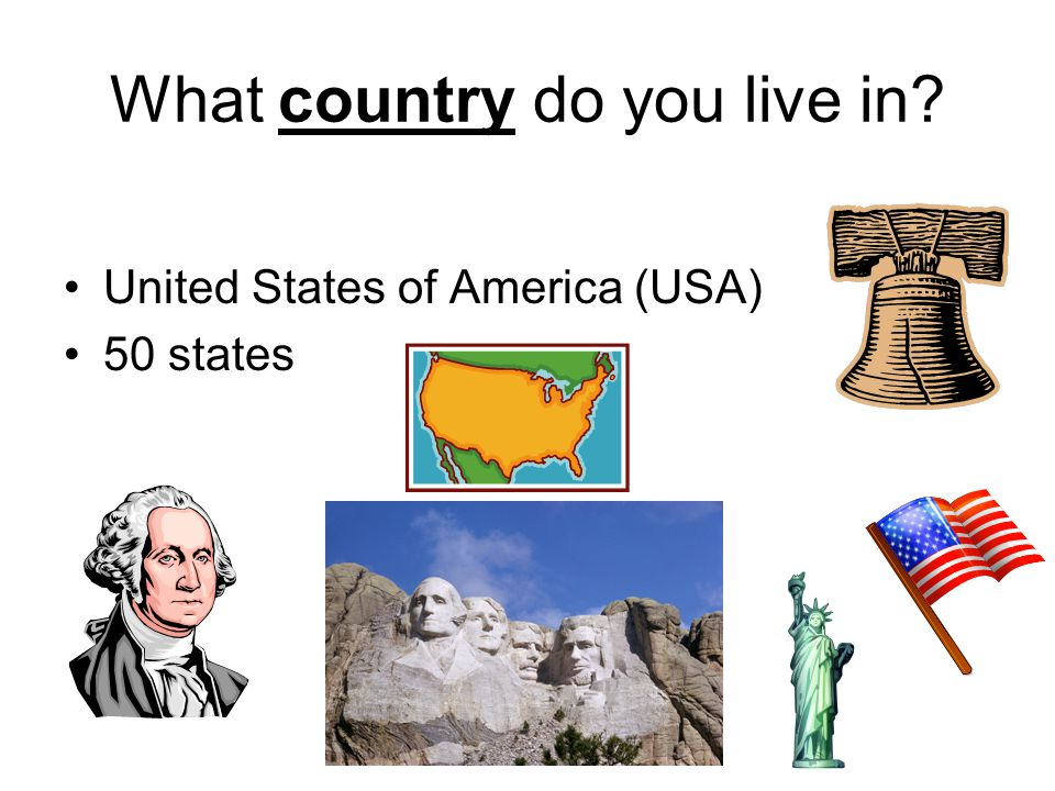 What country do you live in? United States of America (USA) 50 states