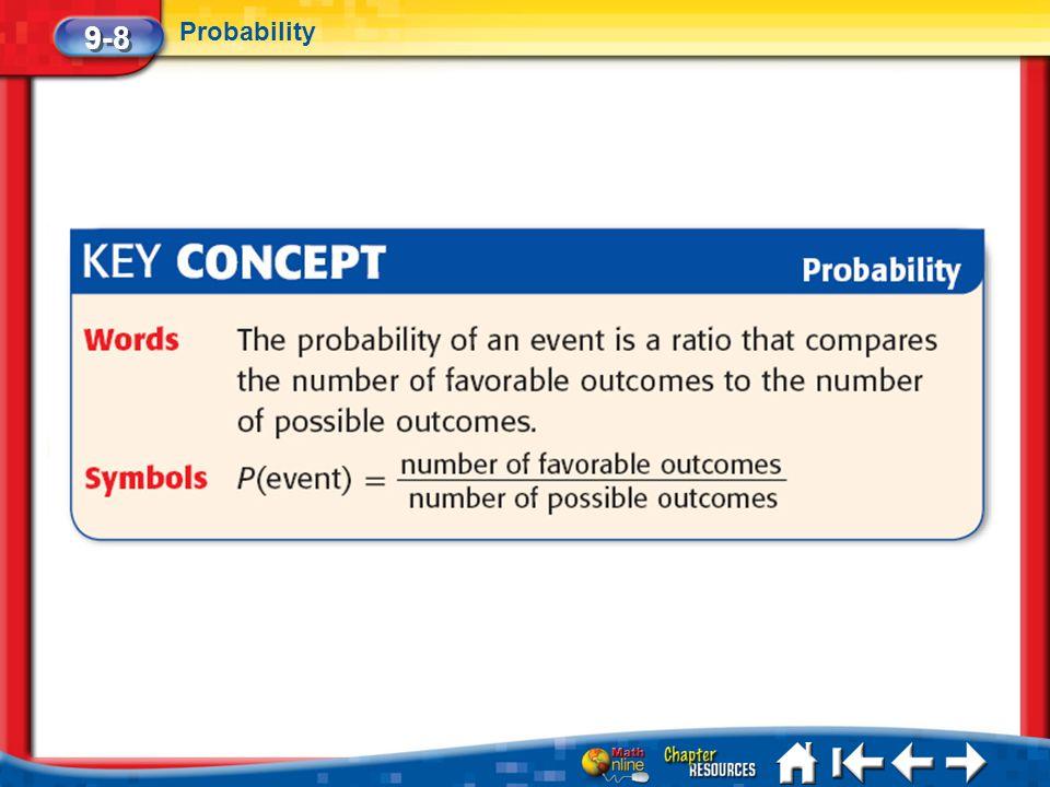 Lesson 8 Key Concept 9-8 Probability