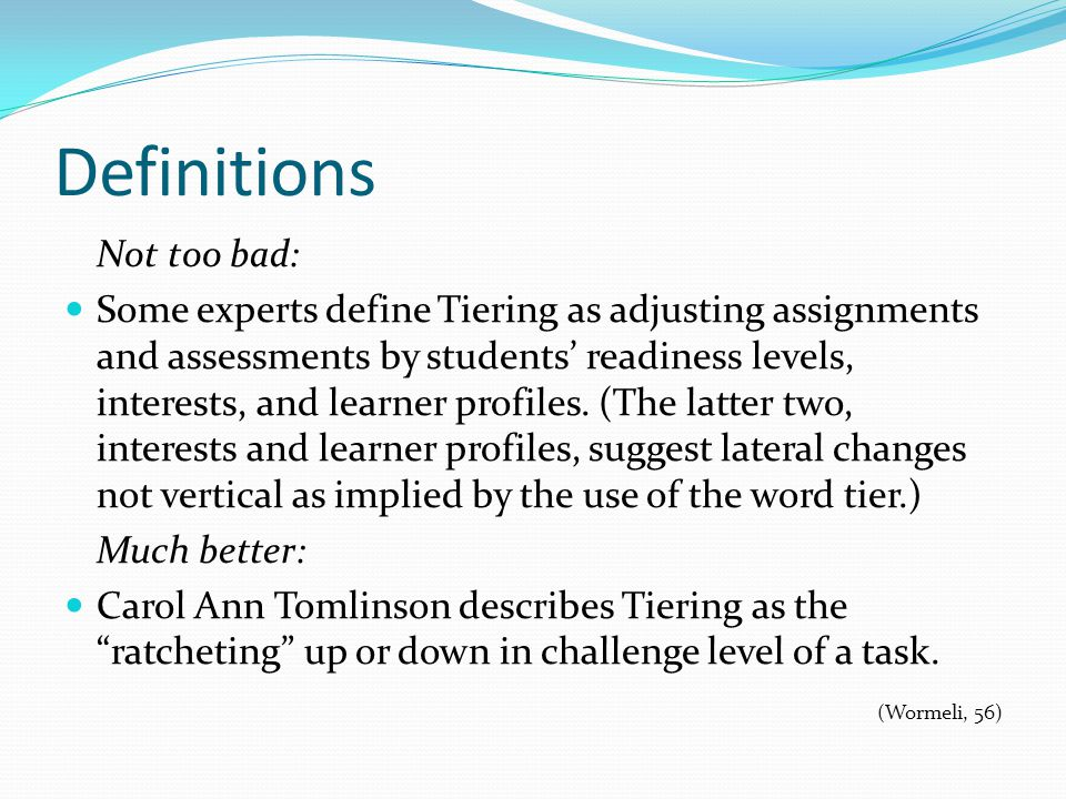 Sample Tiered Reading Assignment Using Bloom's Taxonomy Advanced Learners: Do you like this story.