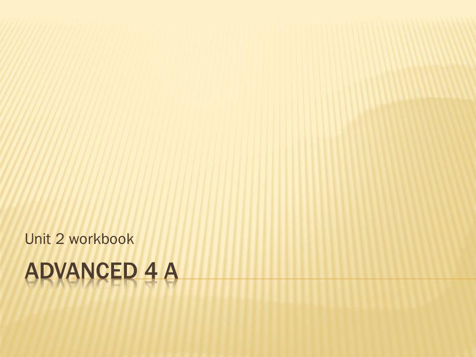 Unit 2 workbook