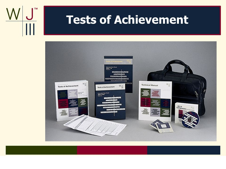 Reliability Goal for clusters set at.90 or higher Goal for tests set at.80 or higher Reliability