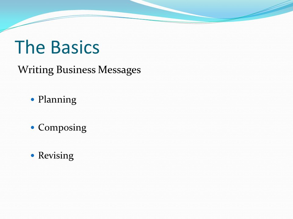 Organizing the e-mail Subject line Must be informative Summarize central idea Abbreviate Make your subject line talk (verb) Capitalize initial letter of principal words Query: Request: