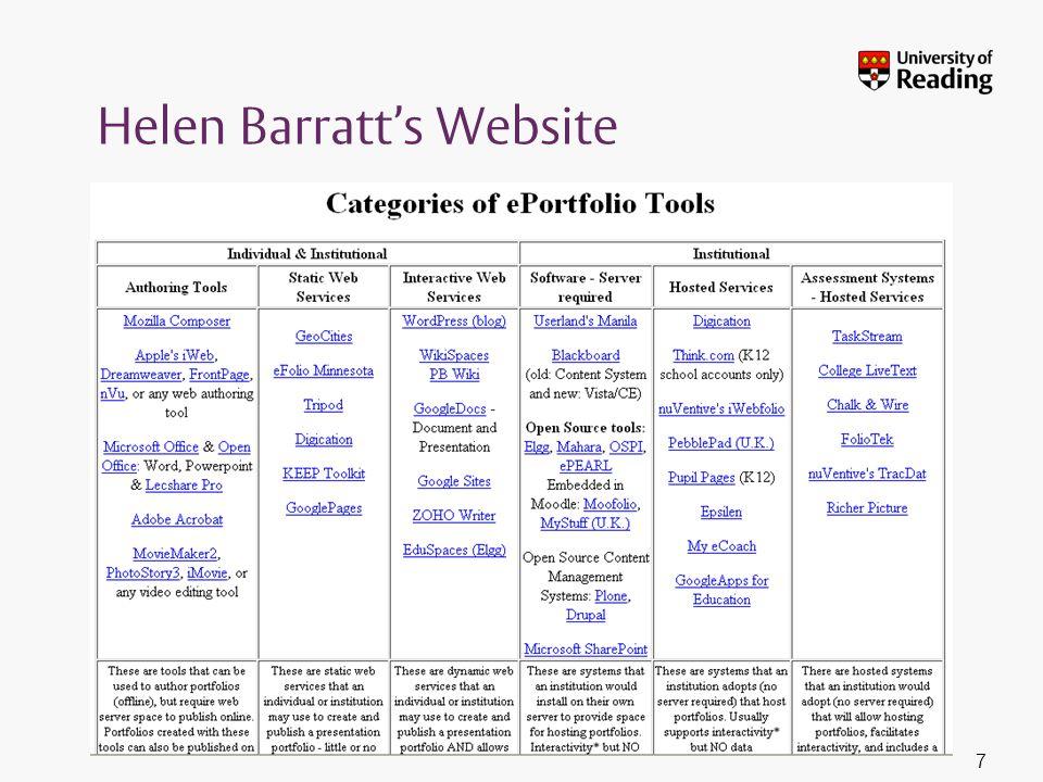 Helen Barratt's Website 7