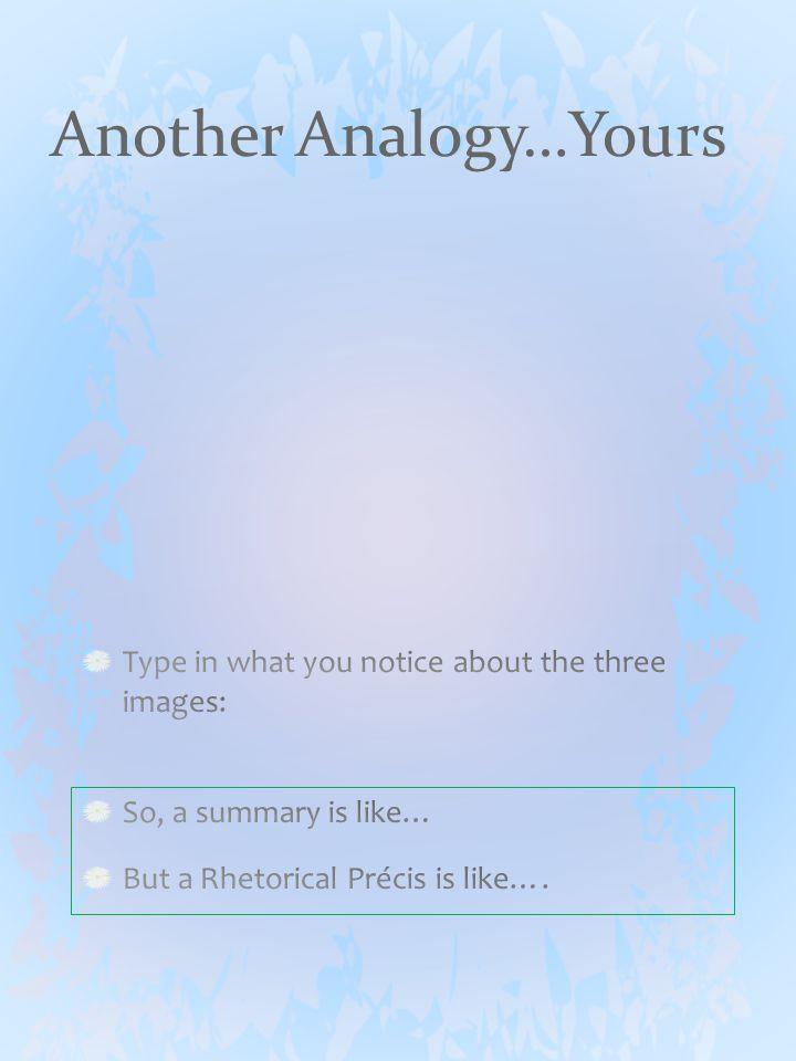 What is a Rhetorical Précis?
