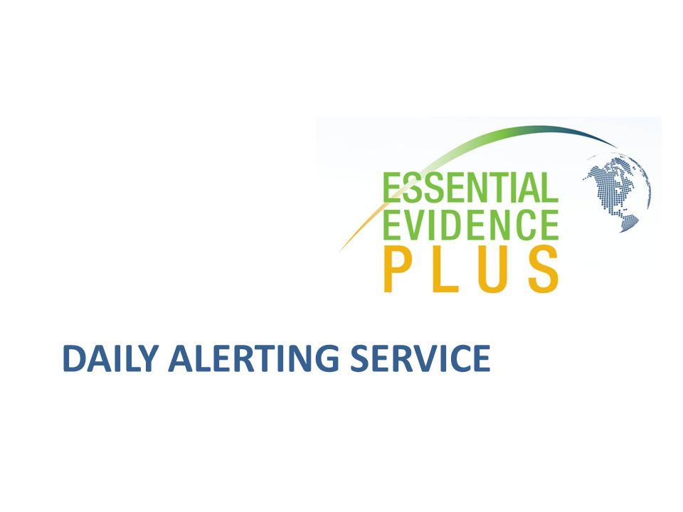 DAILY ALERTING SERVICE