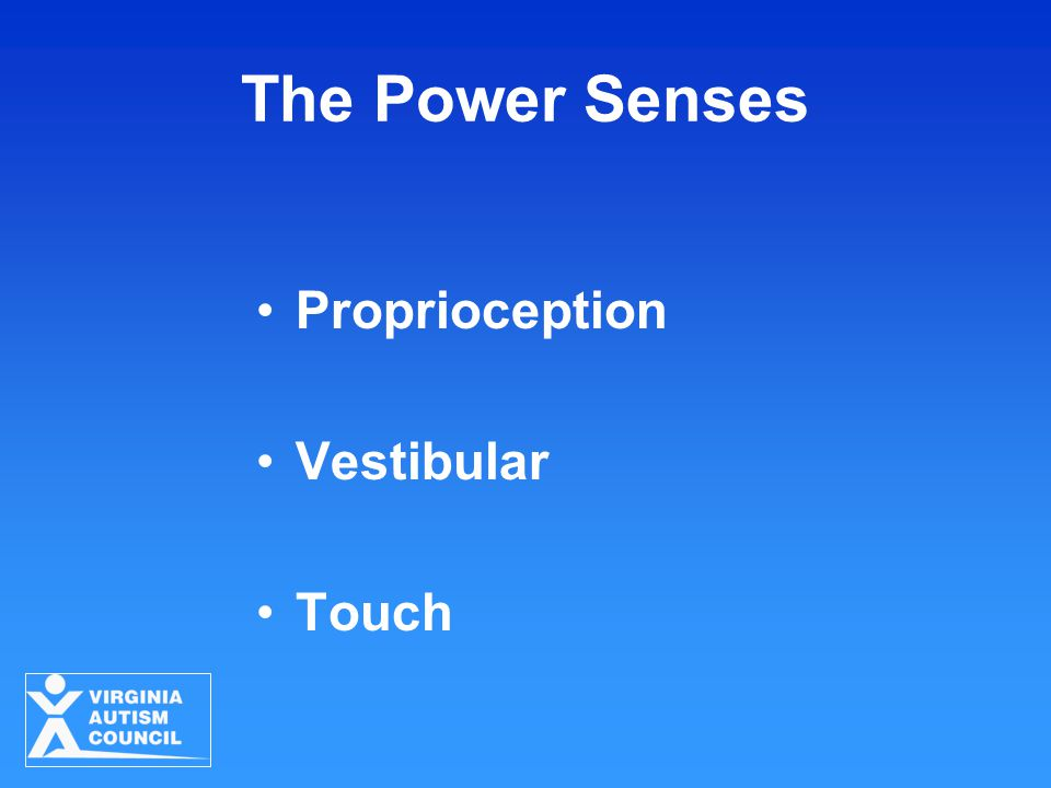 The Power Senses Proprioception Vestibular Touch