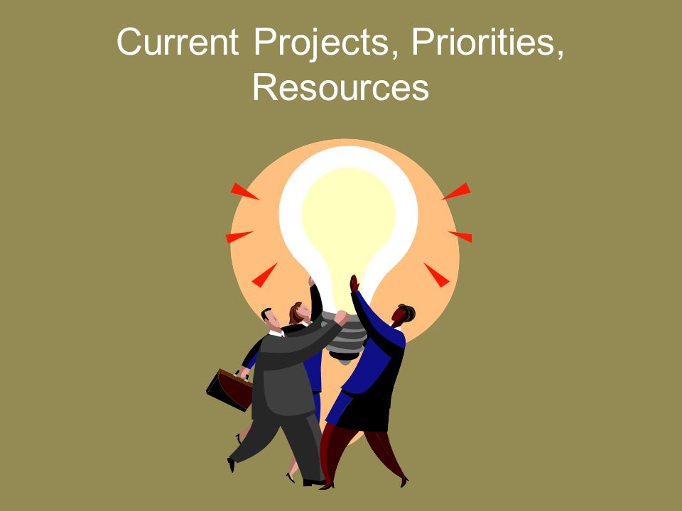 Current Projects, Priorities, Resources