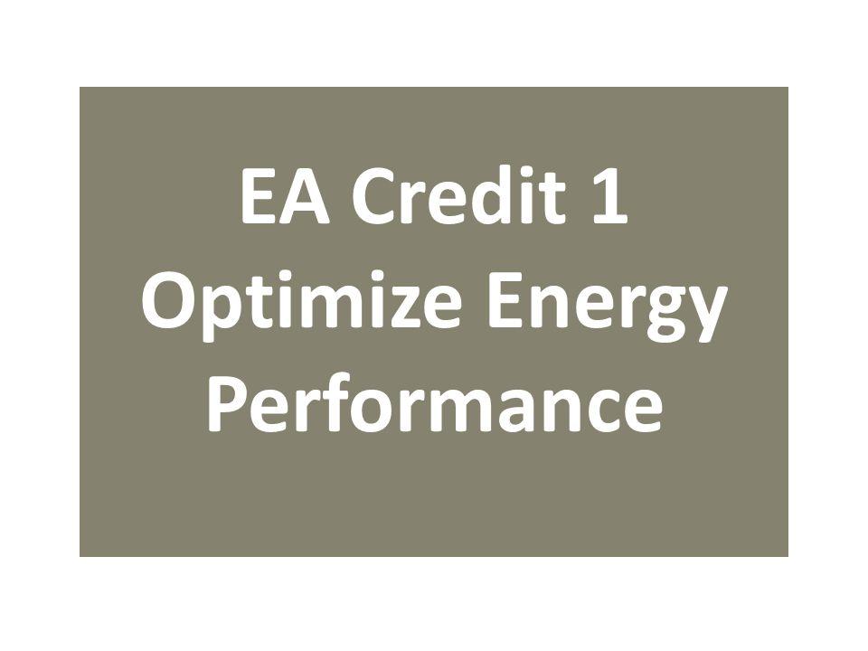 EA Credit 1 Optimize Energy Performance