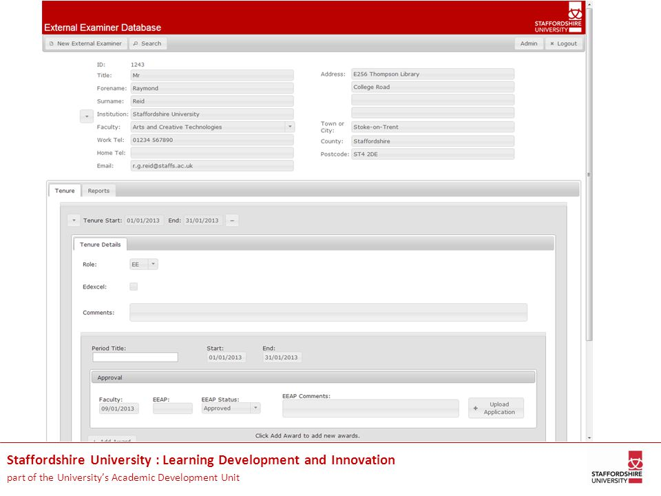 Staffordshire University : Learning Development and Innovation part of the University's Academic Development Unit