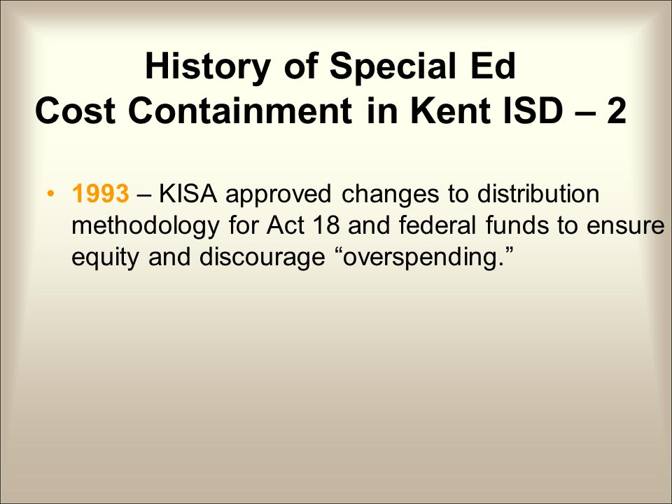 PART 2: Cost Containment Considerations from Special Education Administrators