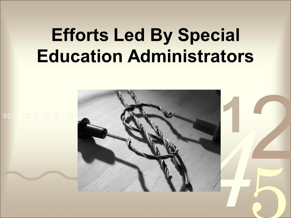 Efforts Led By Special Education Administrators