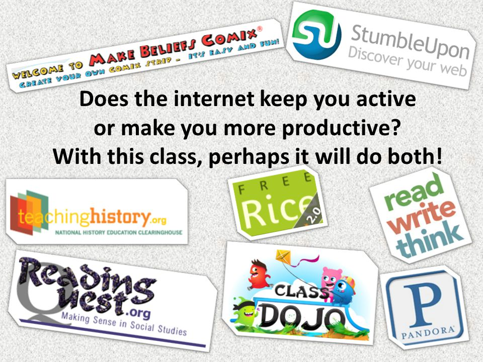 Does the internet keep you active or make you more productive.