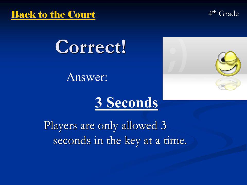 Correct. Players are only allowed 3 seconds in the key at a time.