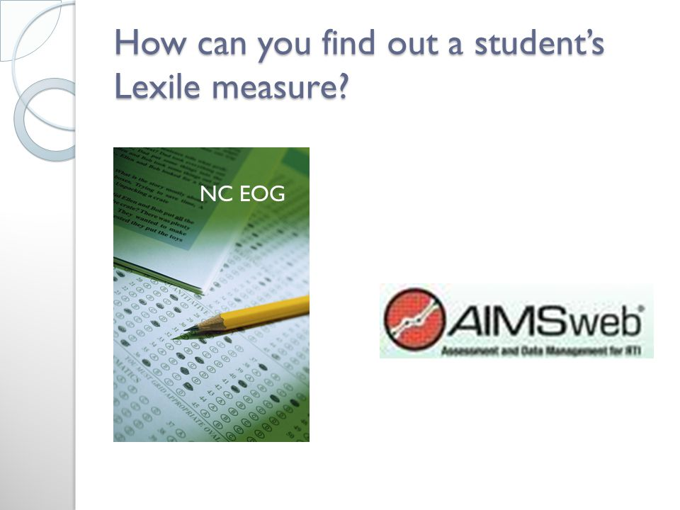 How can you find out a student's Lexile measure NC EOG