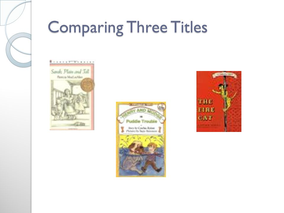 Comparing Three Titles