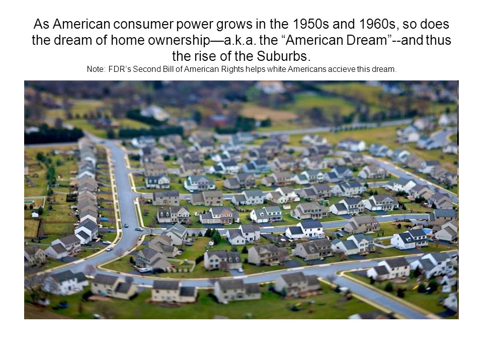 As American consumer power grows in the 1950s and 1960s, so does the dream of home ownership—a.k.a.