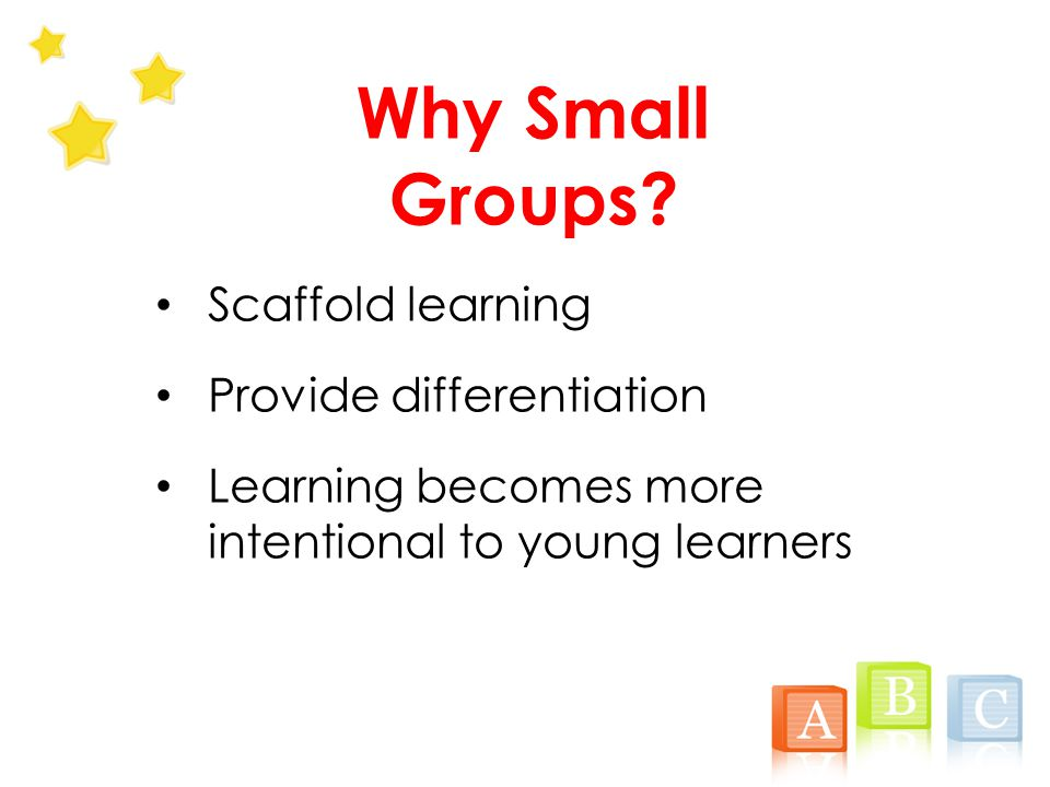 Why Small Groups.