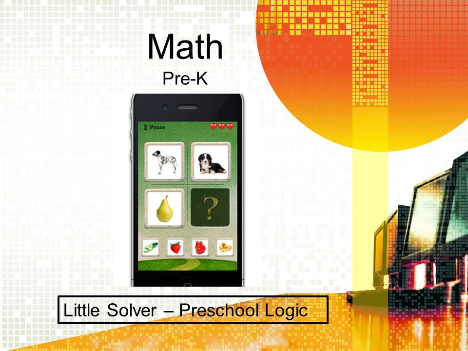 Math Kindergarten Math Bingo