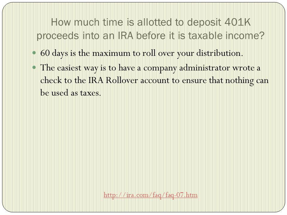 Additional Information The FDIC (Federal Deposit Insurance Corporation) insures IRAs up to $250,000.