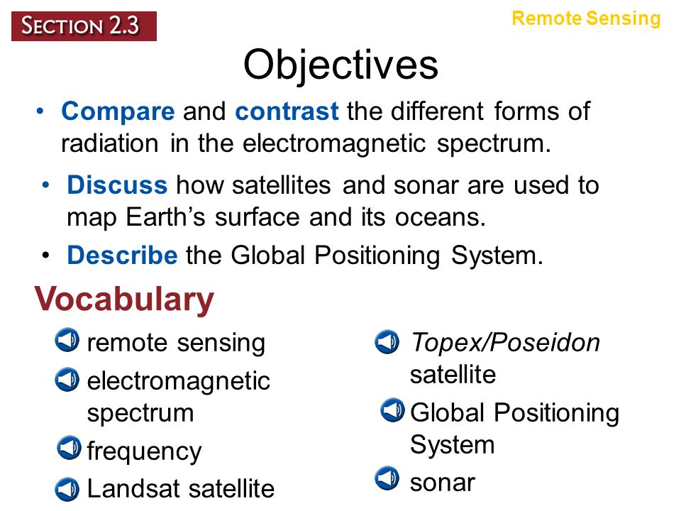 Topex/Poseidon Satellite The distance to the water's surface is calculated using the known speed of light and the time it takes for the signal to be reflected.