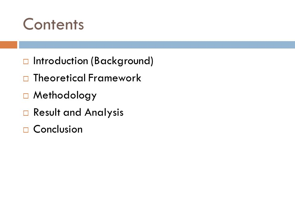 Result and Analysis I 1.Business Development Opportunities 2.