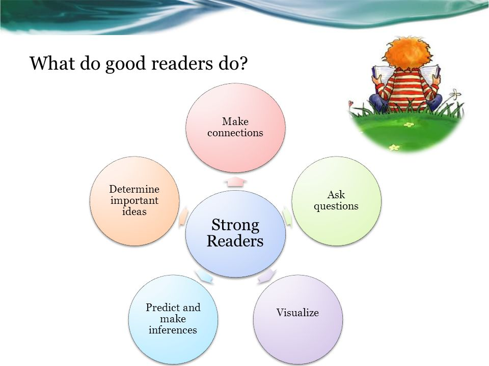 What do good readers do.