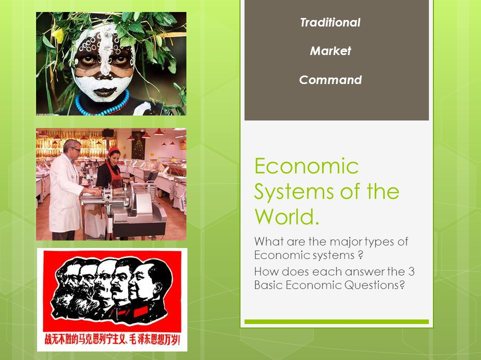 Economic Systems of the World. What are the major types of Economic systems .