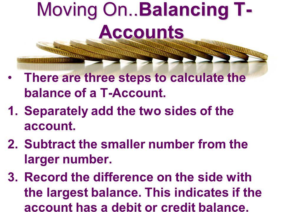 Balancing T-Accounts Balancing T-Accounts ASSETS