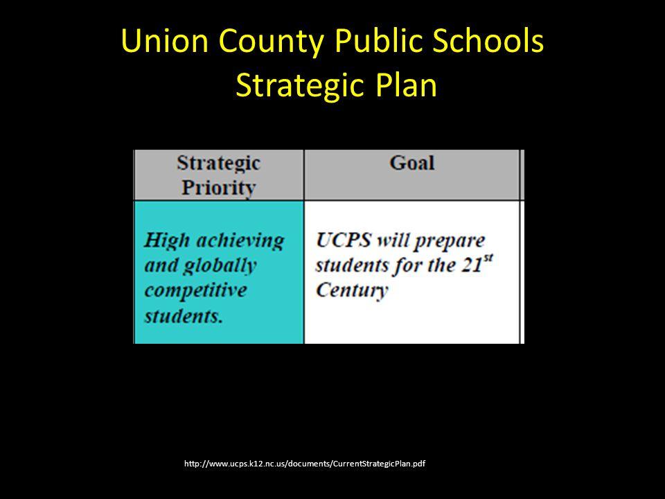 http://www.ucps.k12.nc.us/documents/CurrentStrategicPlan.pdf Union County Public Schools Strategic Plan