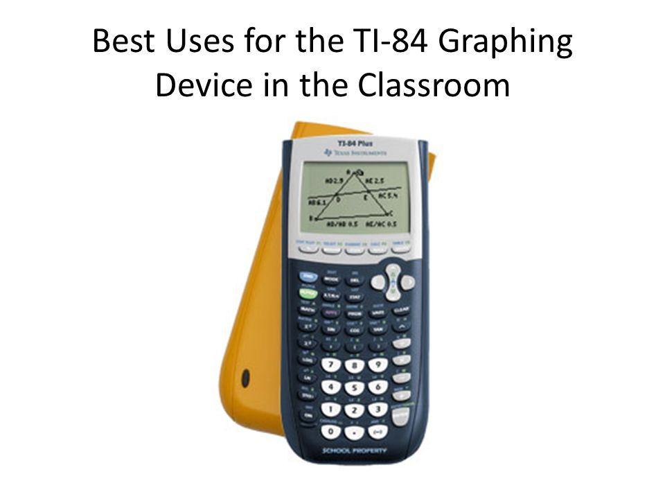 Best Uses for the TI-84 Graphing Device in the Classroom