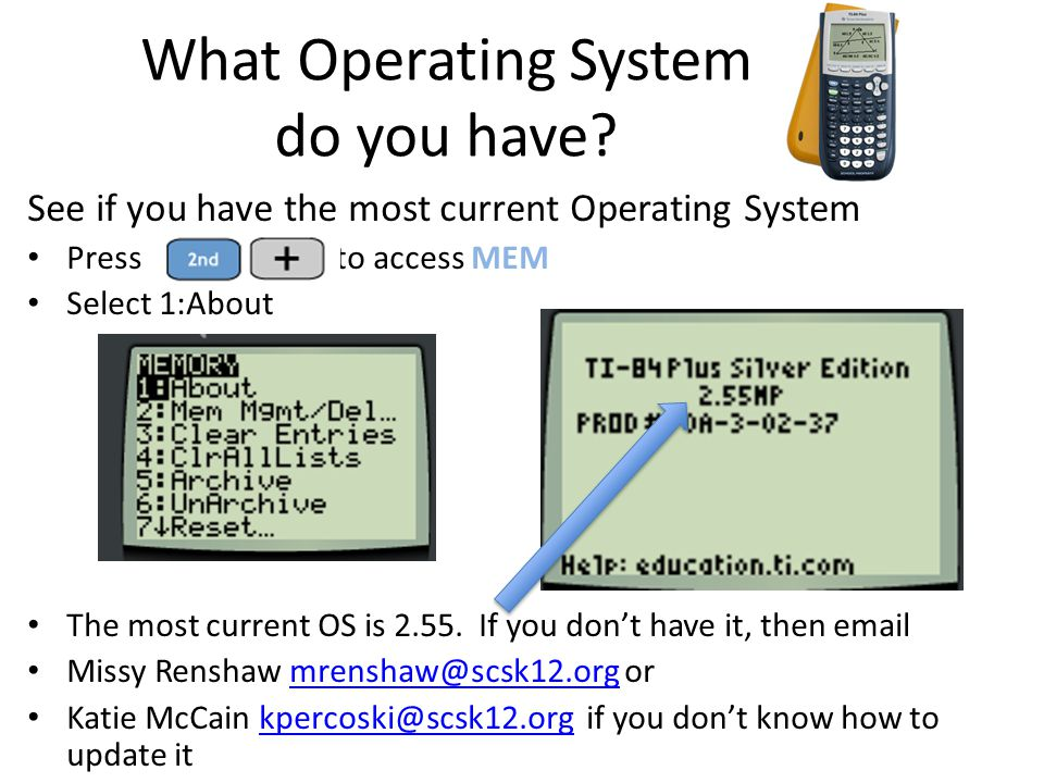 What Operating System do you have? See if you have the most current Operating System Press to access MEM Select 1:About The most current OS is 2.55. I