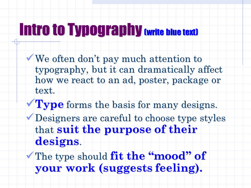 Aa Introduction to Visual Communications PART 1: Typography TGJ 2OI BLUEVALE COLLEGIATE INSTITUTE 2a Introduction to Typography.ppt