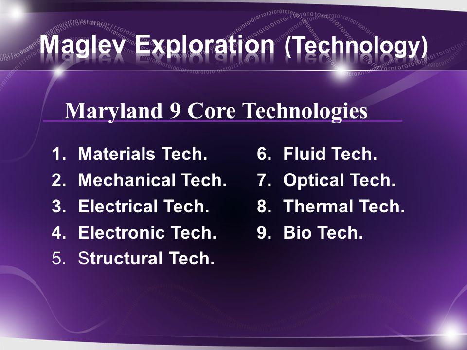 1.Materials Tech. 2.Mechanical Tech. 3.Electrical Tech.