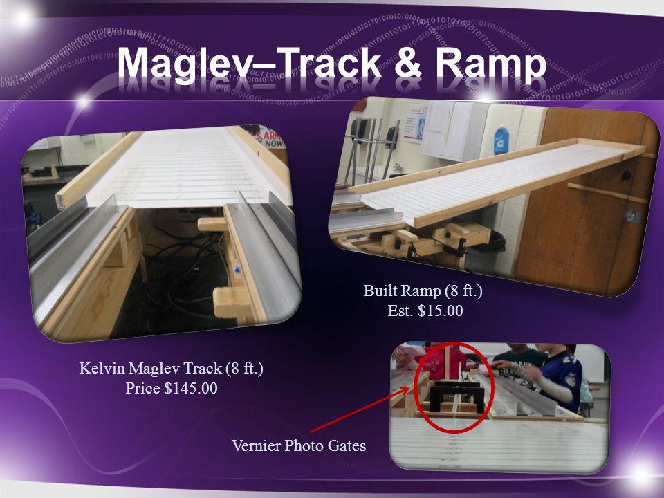 Kelvin Maglev Track (8 ft.) Price $145.00 Built Ramp (8 ft.) Est. $15.00 Vernier Photo Gates