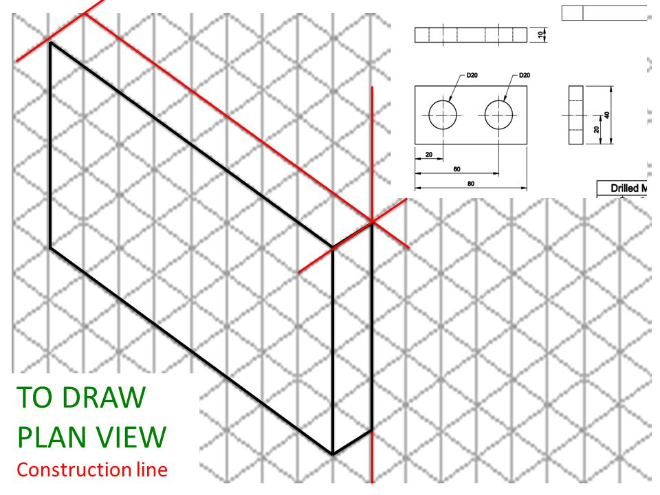 TO DRAW PLAN VIEW Construction line