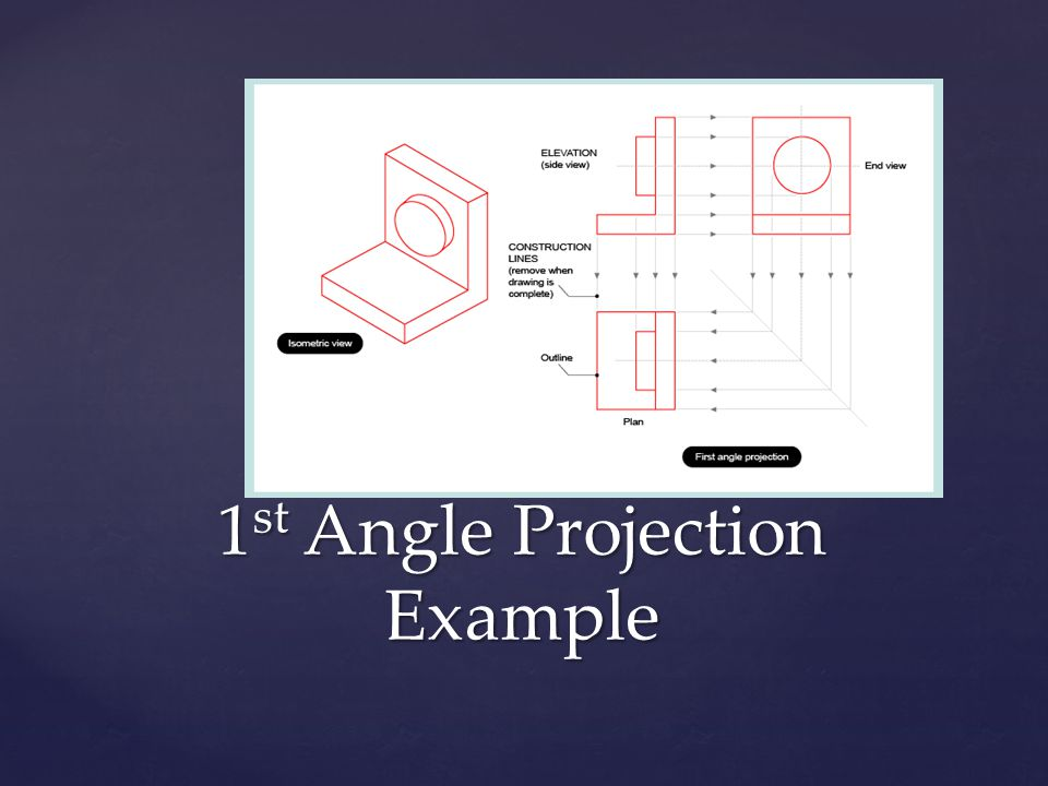 1 st Angle Projection Example