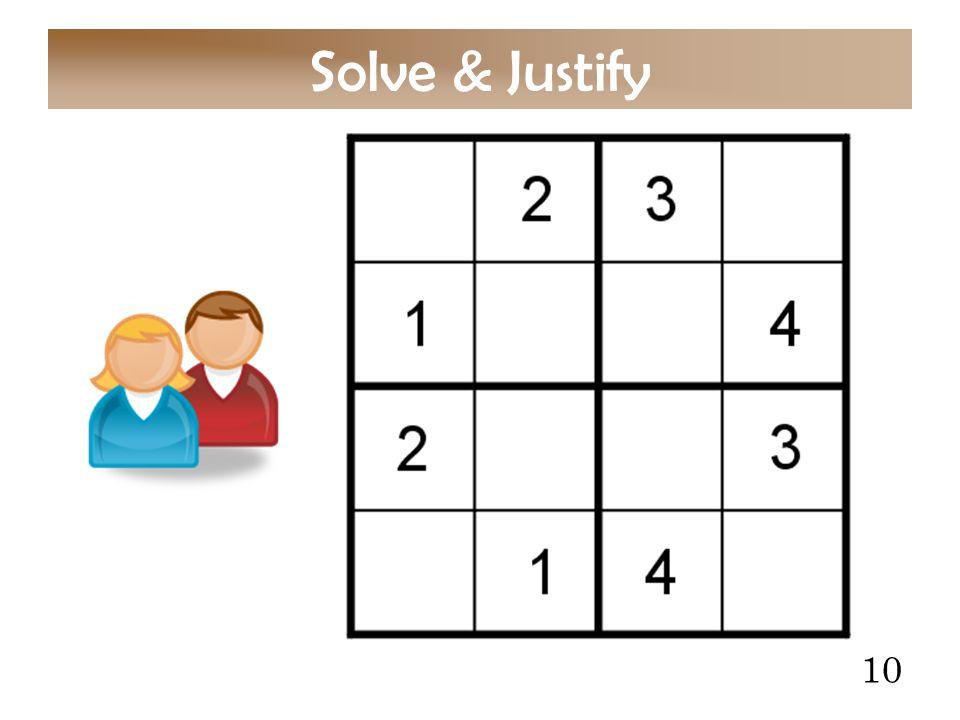10 Solve & Justify