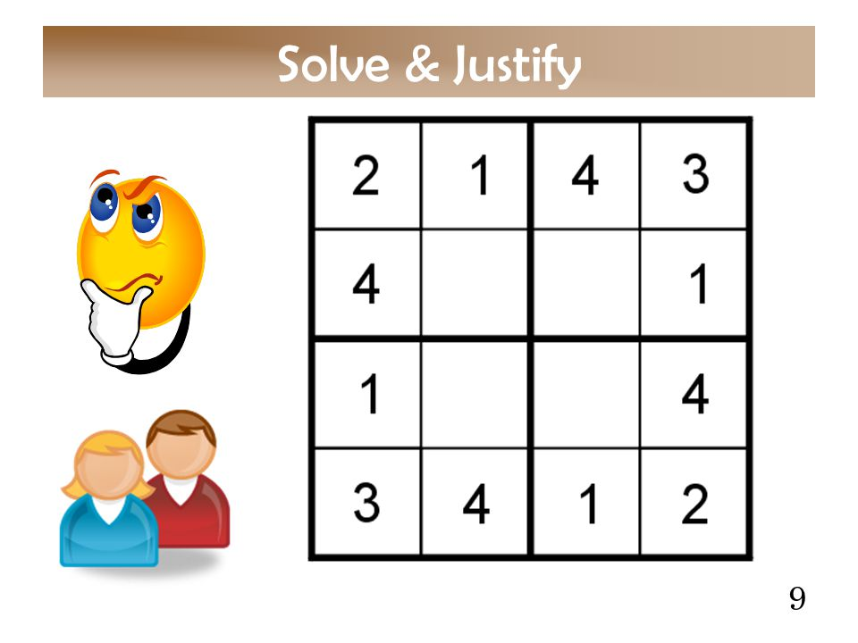 9 Solve & Justify