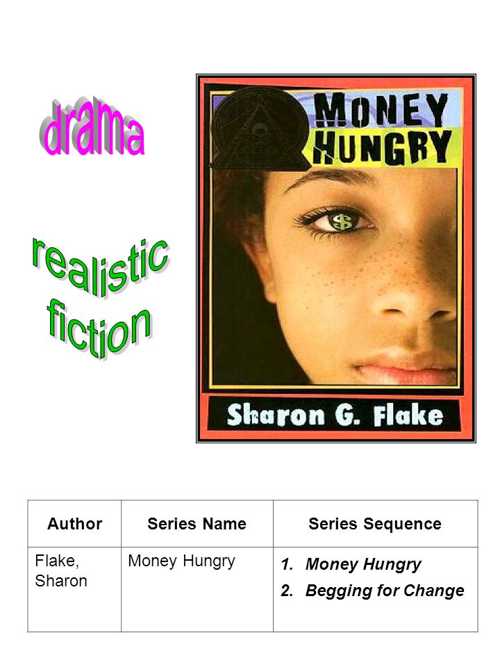 AuthorSeries NameSeries Sequence Flake, Sharon Money Hungry 1.Money Hungry 2.Begging for Change
