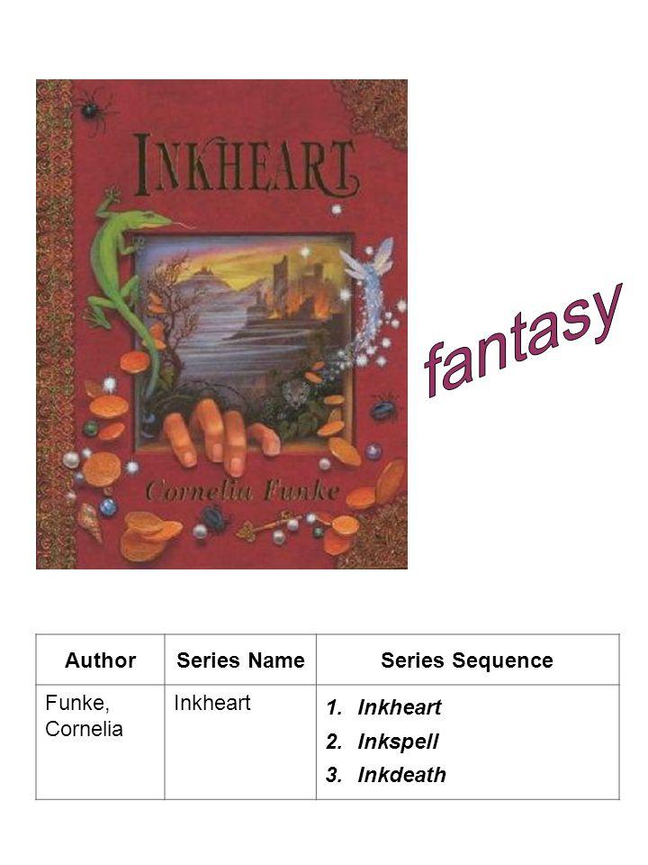 AuthorSeries NameSeries Sequence Funke, Cornelia Inkheart 1.Inkheart 2.Inkspell 3.Inkdeath