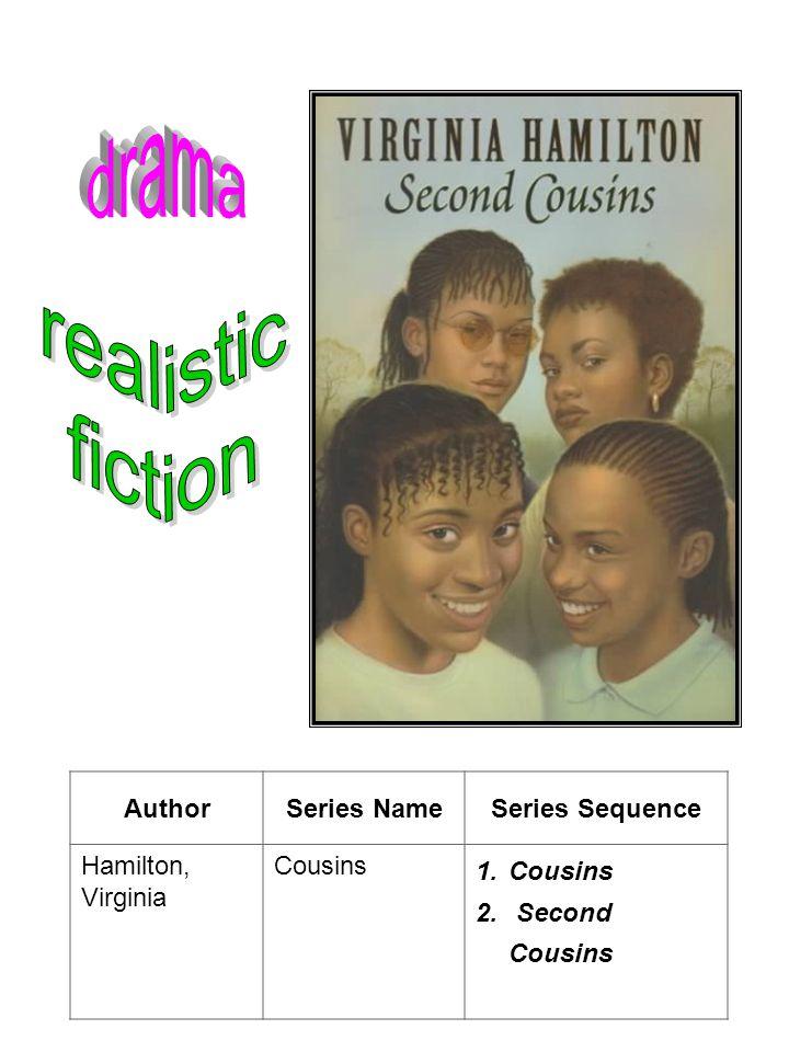 AuthorSeries NameSeries Sequence Hamilton, Virginia Cousins 1.Cousins 2. Second Cousins