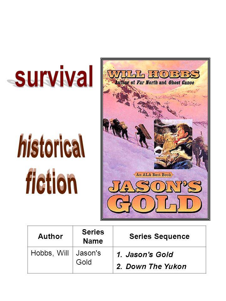 Author Series Name Series Sequence Hobbs, WillJason s Gold 1.Jason s Gold 2.Down The Yukon